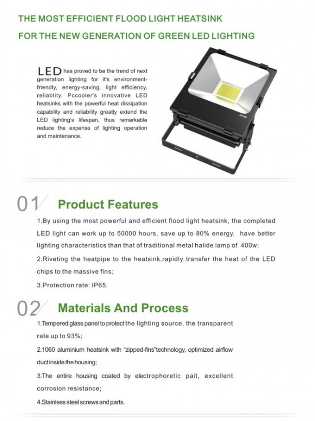Ce RoHS 20000lm High Power 200W LED Flood Light Outdoor IP65