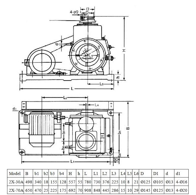 5.5kw Rotary Vane Vacuum Pump for Vacuum Heat Treatment
