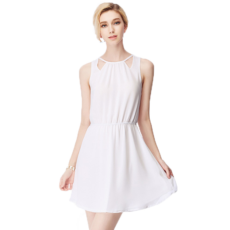 2016 Summer New Style Sleeveless O-Neck Women Dress