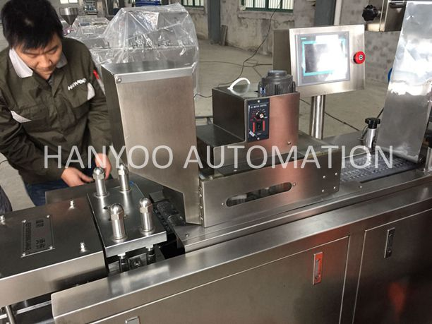 Alu Alu Capsule Tablet Pill Softgel Blister Packaging Machine