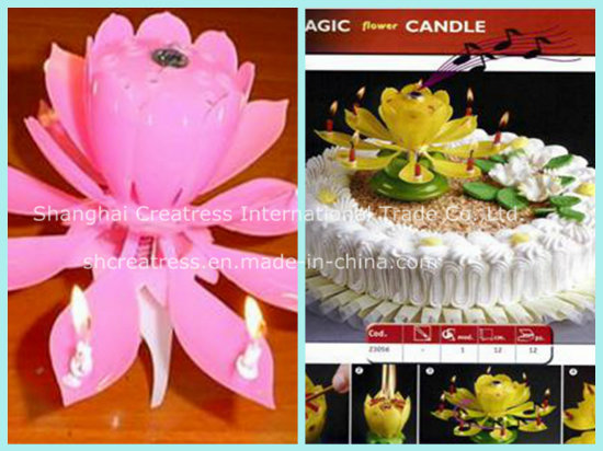 New Design Flower Musical Candle for Birthday