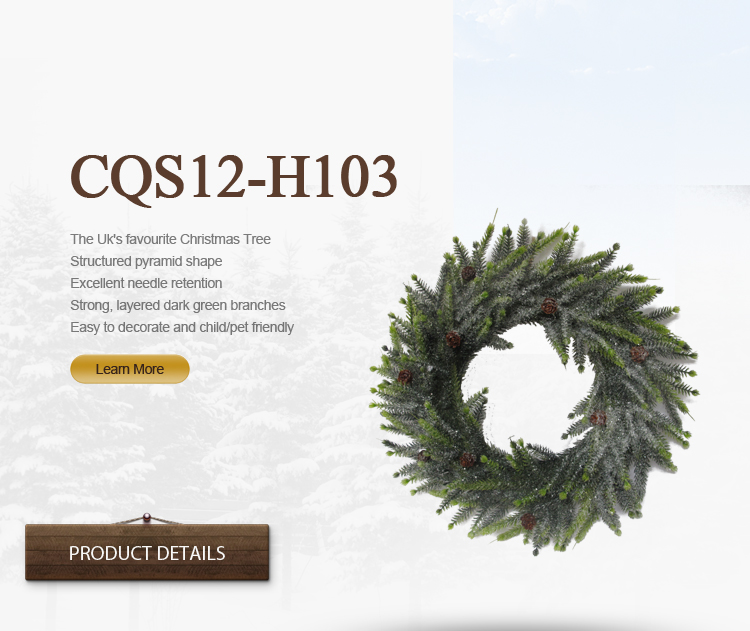 The Spring Real Touch Christmas Artificial Wreath Artificial Flower for Christmas H30-H48cm