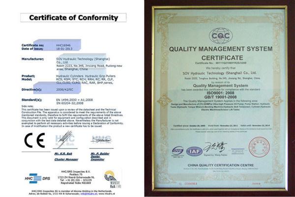 High Quality Standard Low Height Hydraulic Cylinder (FY-RCS)