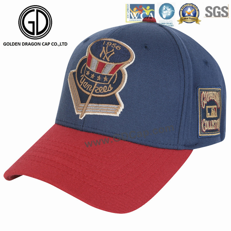 Customized Logo Embroidered Cotton Twill High Quality Sports Blue Baseball Cap