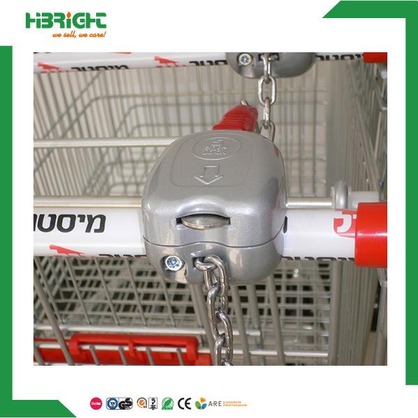 Supermarekt Metal Shopping Trolley Coin Lock for Shopping Cart