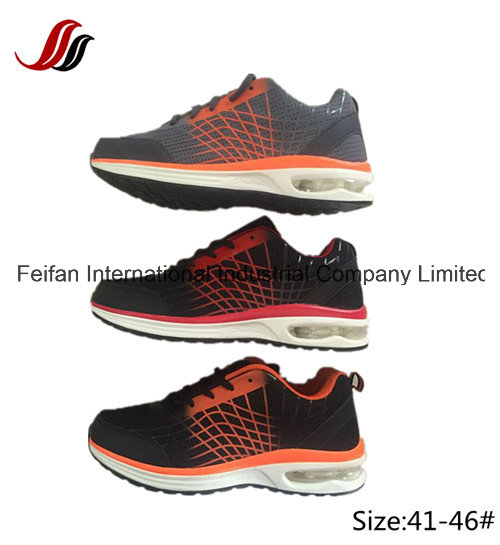 Flying Line Knitted Upper Running Shoes, Air Cushion Sport Shoes, New Design Sneaker Shoes