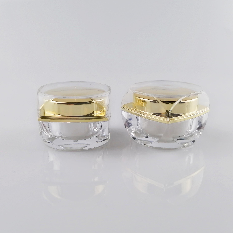 Cream Container Plastic Clear Skin Care Acrylic Jar
