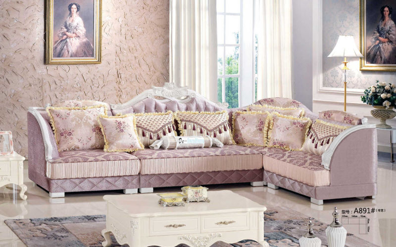 Europe Type Royal Sofa, New Classic Sofa, Fabric Sofa (A891)