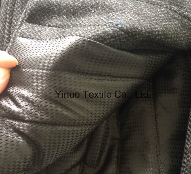 100 Polyester 260t Twill Print Lining Classic Big Check Pattern for Women's Wind Coat and Jacket