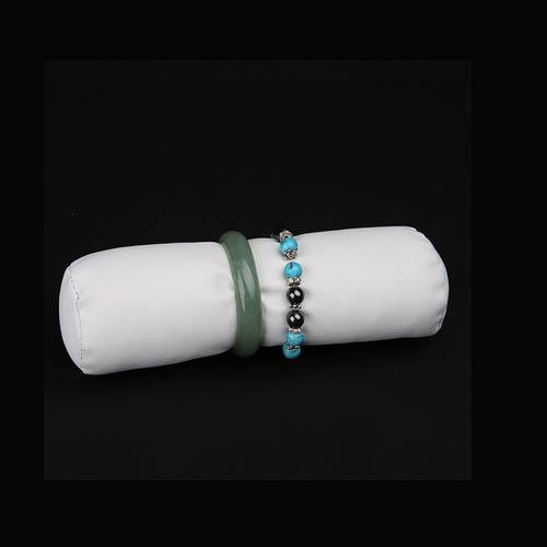 White PU Jewelry Bracelet Display Jewelry Roll (JR-RL-WL)