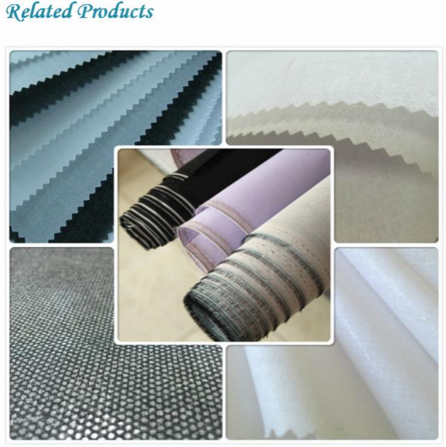 100% Cotton Shirt Collar Interlining Printed Fabric 2060