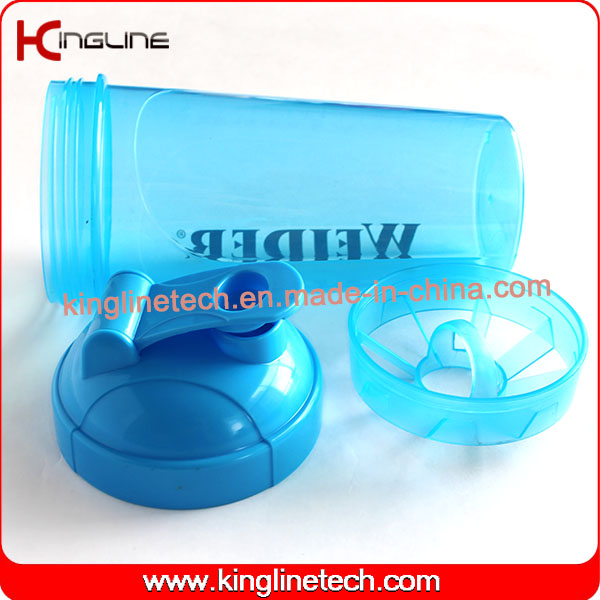 700ml Plastic Protein Shaker Bottle with Filter (KL-7033)