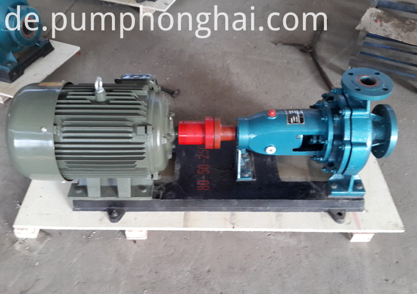 pump driven by electric motor