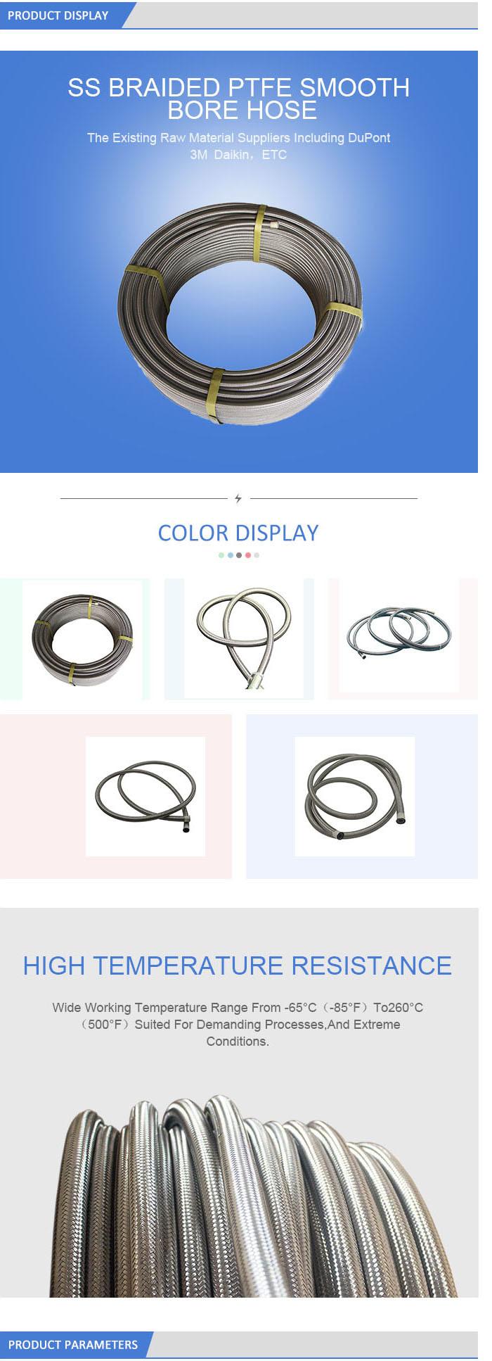 Industria Steel Wire Reinforced Hose Stainless Steel Flexible Hose