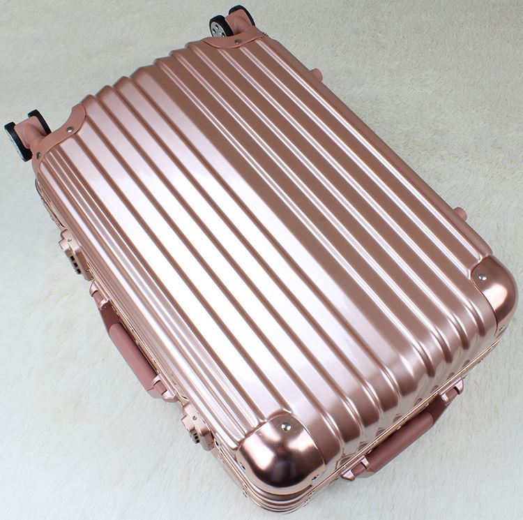 Travel Aluminum Alloy Spinner Wheel Luggage Suitcase (HL-2001)