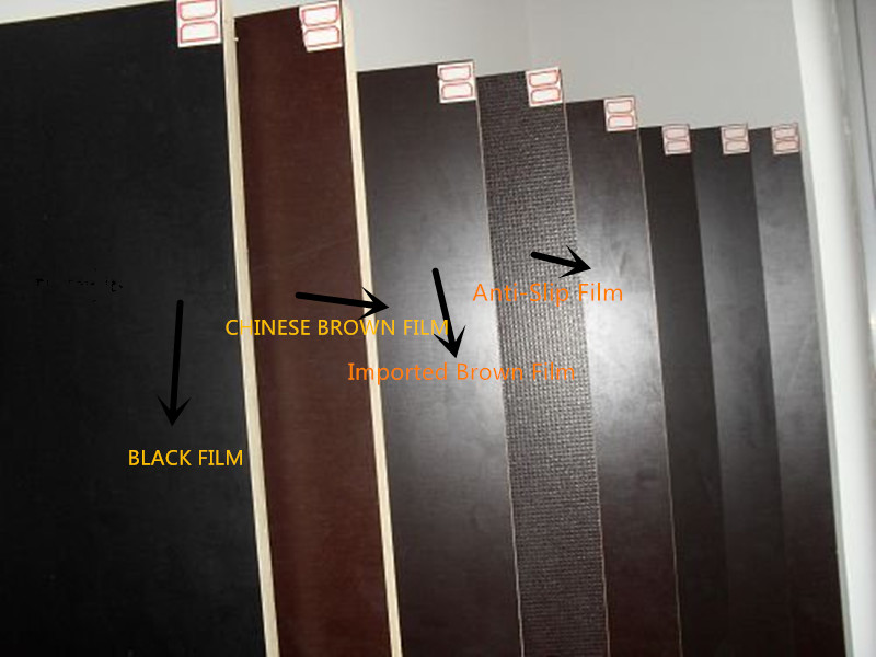 Waterproof Film Faced Plywood WBP Glue Brown Film for Construction