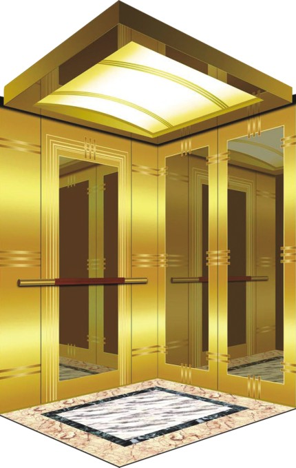 Smr Machine Room Passenger Elevator with Luxury Car Decoration China for Suites