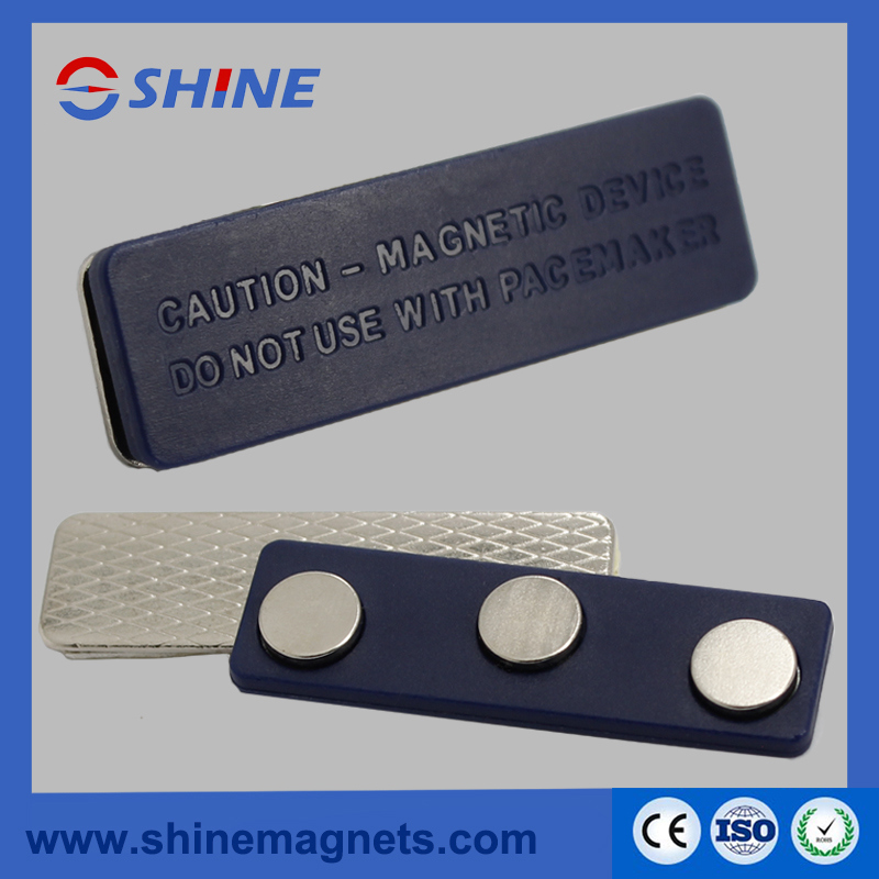 Name Badge Magnet with Plastic Plate