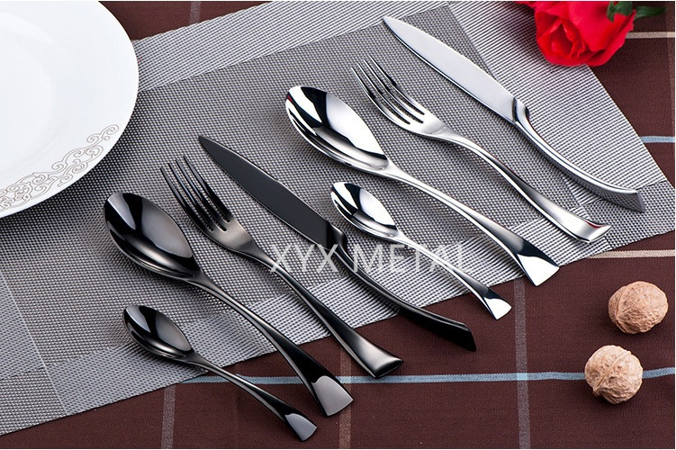 Customized Logo Mirror Polished Stainless Steel Flatware