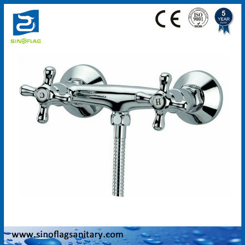 Double Handle Bathroom Shower Faucet Shower Tap
