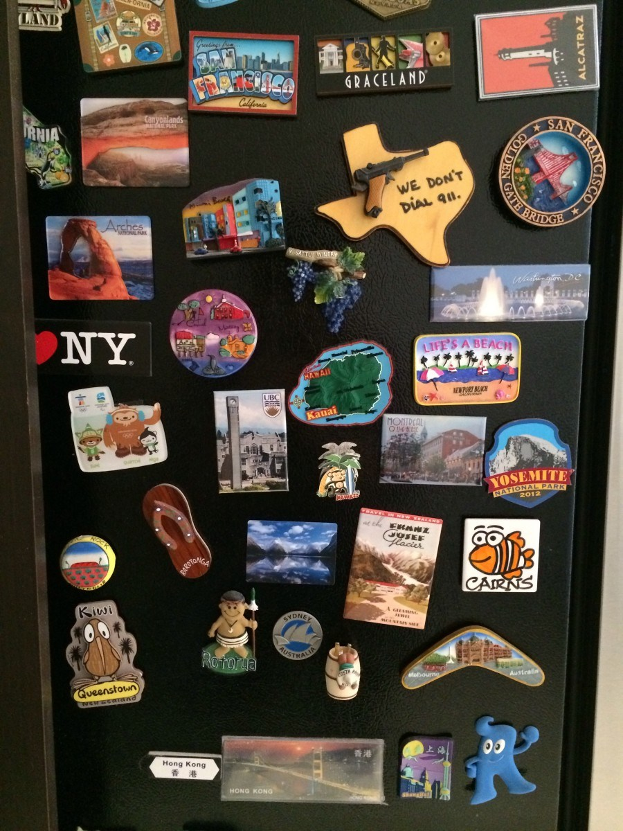 3D Fridge Magnets World Travel Souvenirs Refrigerator Magnetic