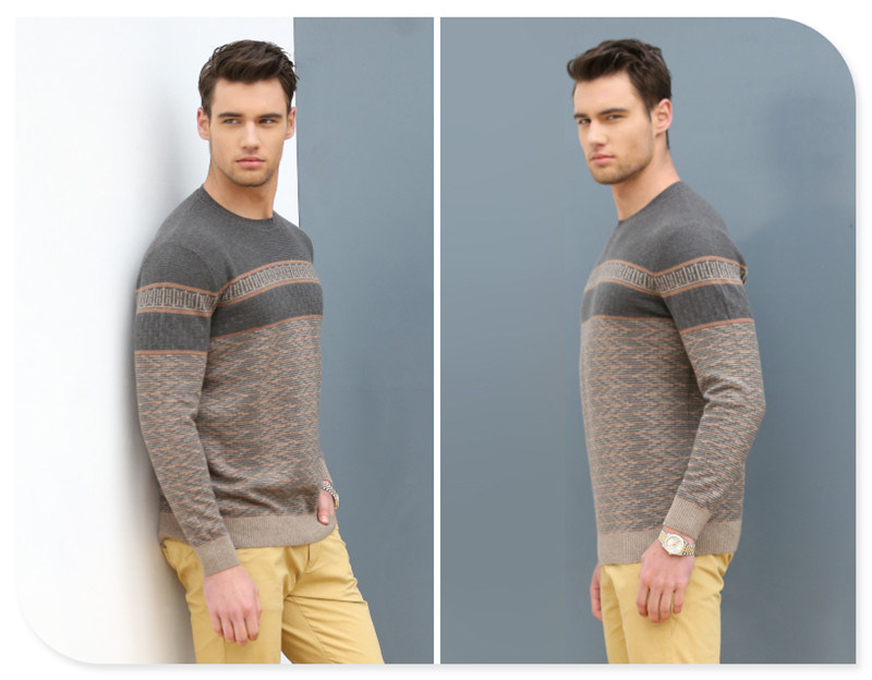 2017 New Style 100% Cashmere Man's Sweater Puyuan China