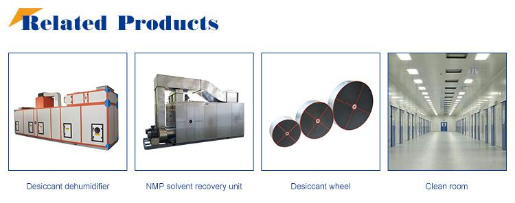 Desiccant Wheel Dehumidifier with Silica Gel Rotor