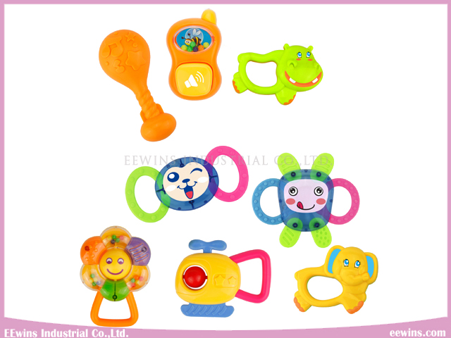 Baby Rattles in Bear Plastic Toys for Baby (8PCS)