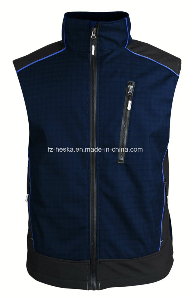 Casual Gym Mens Softshell Ripstop Vest