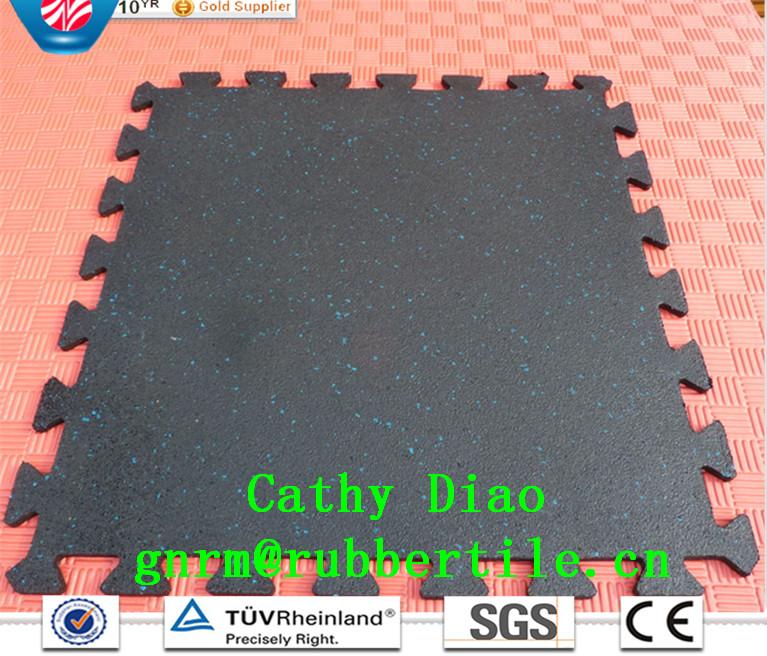 Interlocking Gym Flooring Anti-Slip Rubber Flooring Gym Flooring Mat Sports Rubber Flooring