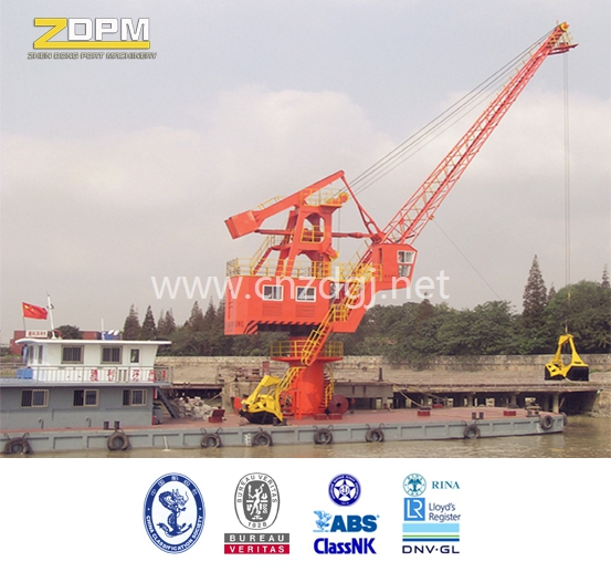 Hydraulic Floating Boat Crane with Grab