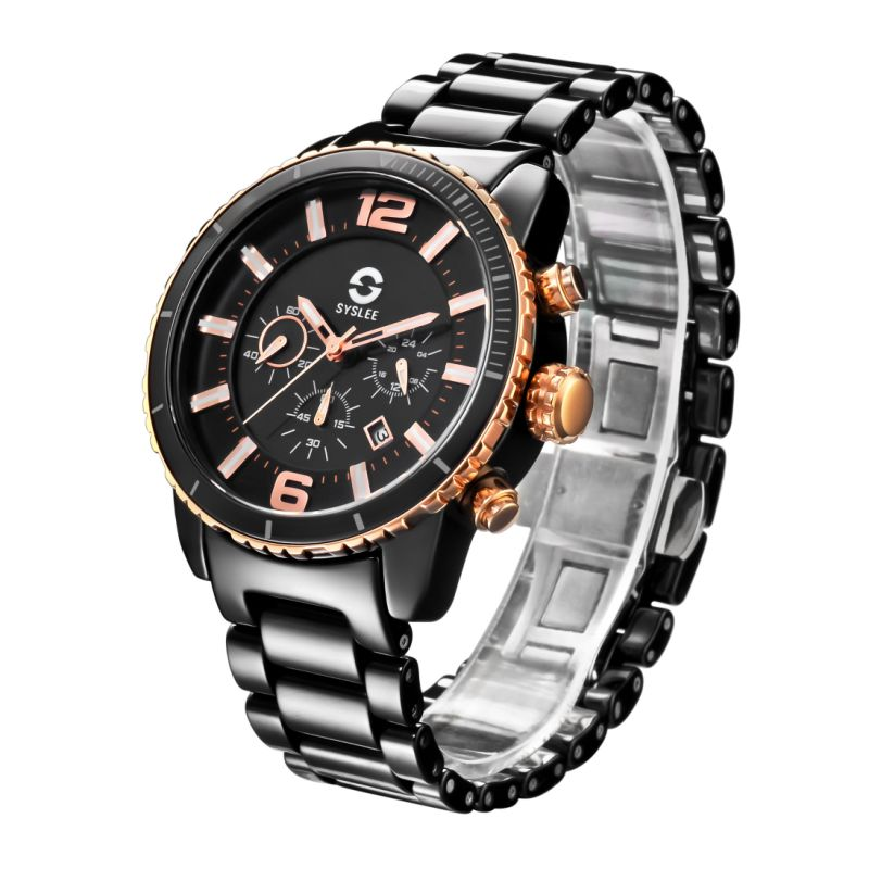 2017 Badatong Hot -Selling Solar Watch, Man Ceramic Chronograph, OEM Solar Watch