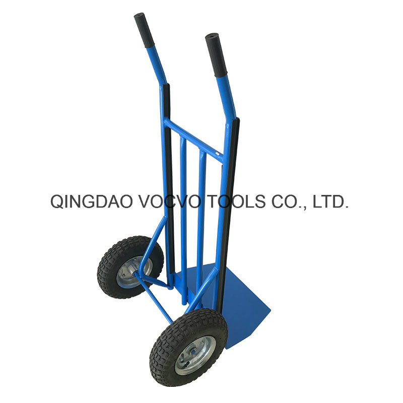 High Quality Popular Double Wheel Hand Trolley for Warehouse