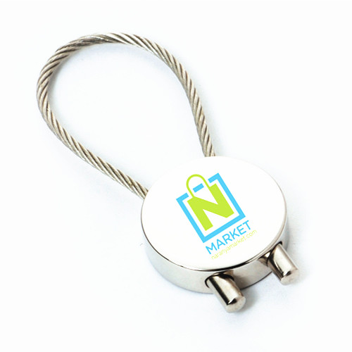 Stainless Steel Wire Airplane Keychain Promotion Gift with Logo (F1250)