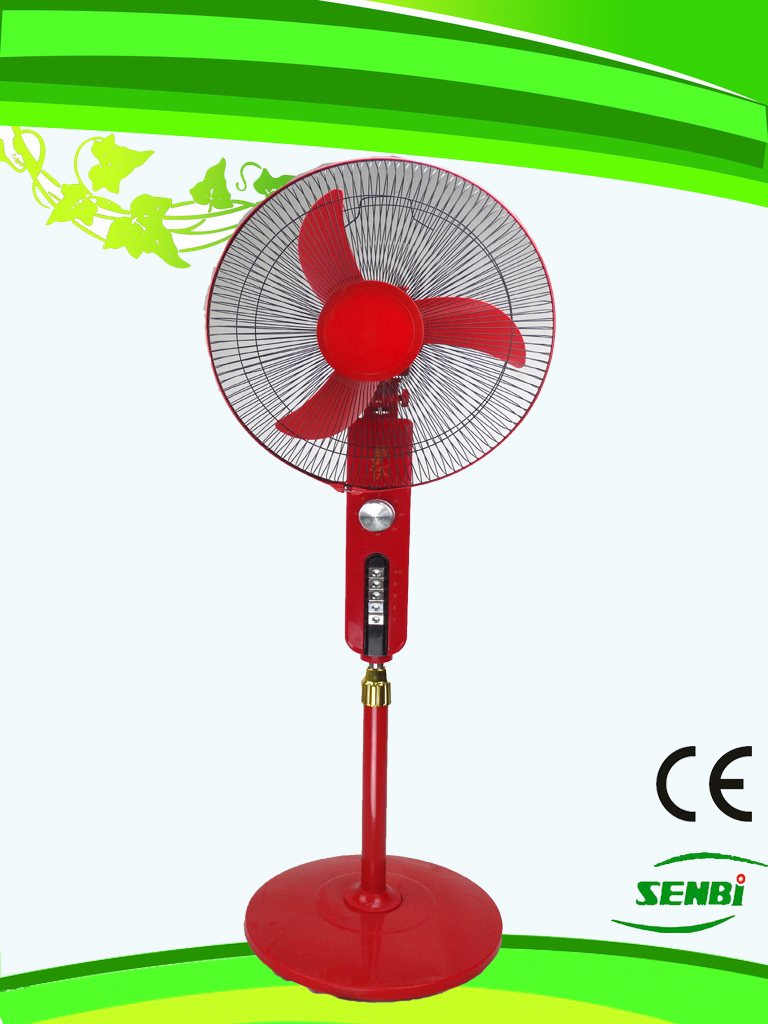 AC110V 16 Inches Stand Fan Red Big Timer (SB-S-AC16O)