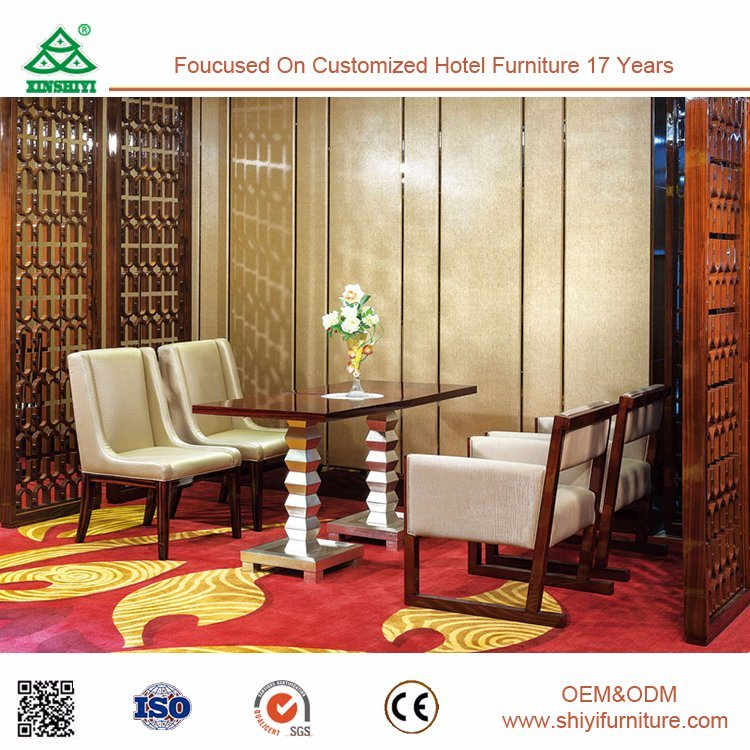 Factory Supplier Grate Modern New Model Dining Room Sofa Sets / Hotel Dining Table and Chair Design