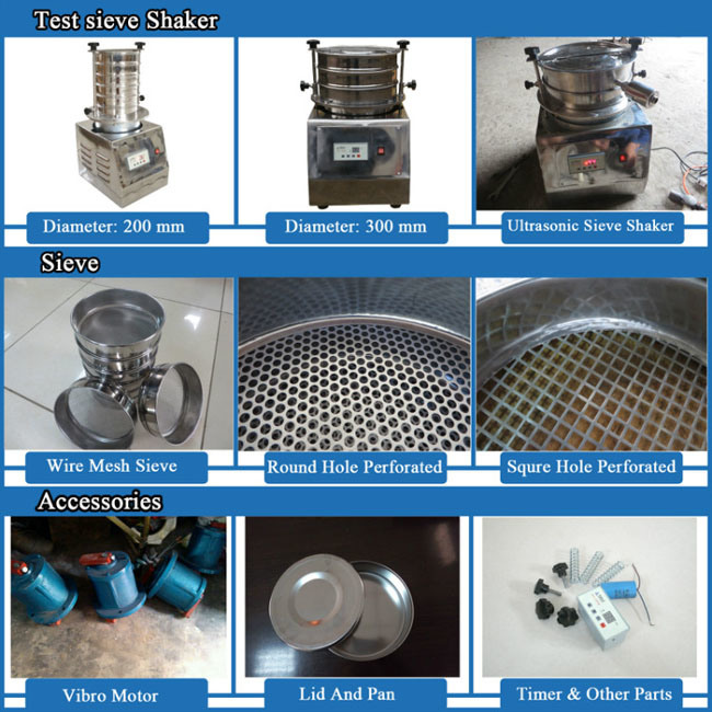 High Efficiency Stainless Steel Laboratory Test Machine Vibrating Screen
