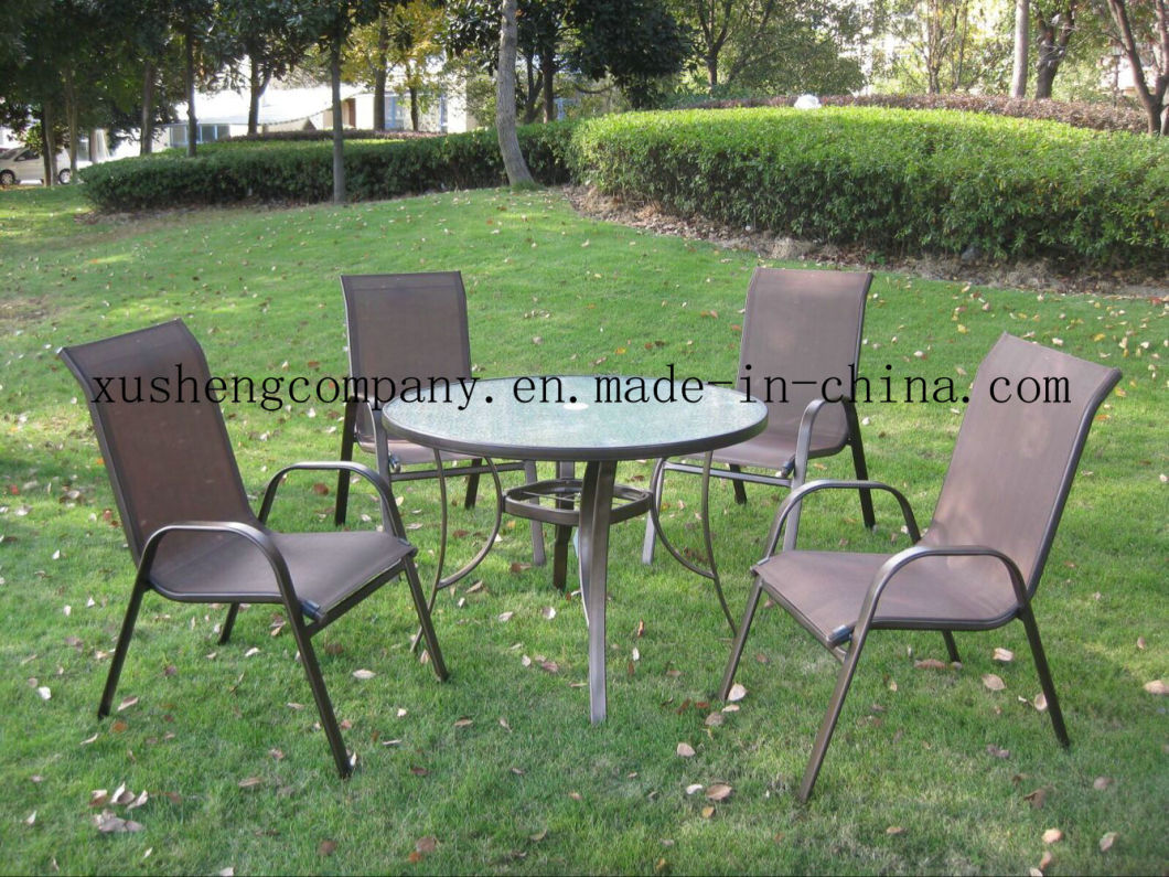 Modern Leisure Garden Dining Table and Chair Steel Outdoor Furniture