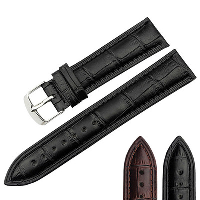 P19z Bamboo Grain Leather Watchband