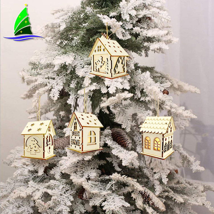 Decoration Wooden Christmas House Village