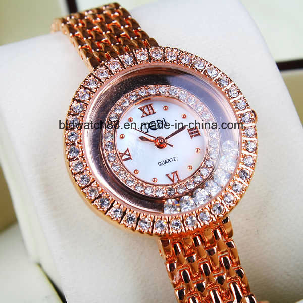 Fashion Lady Gold Jewellery Watch with Japan Movement