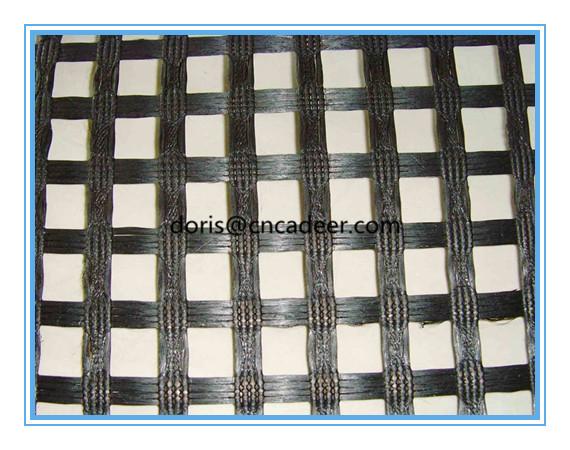 Bitumen Coated Fiberglass Geogrid 50/50kn/M for Asphalt Reinforcement