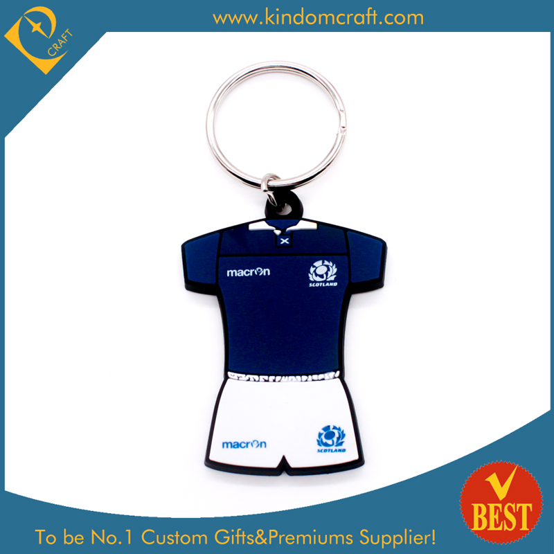 Wholesale Fashion Sport Shirt PVC Key Chain for Promotion with High Quality From China
