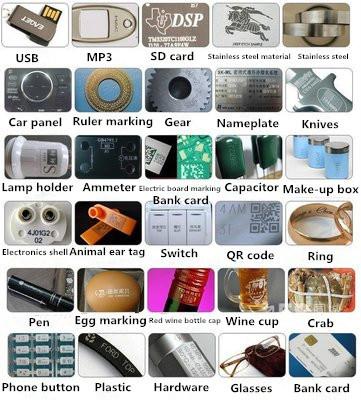 20W 30W 50W Metal Plastic Fiber Laser Engraving Machine