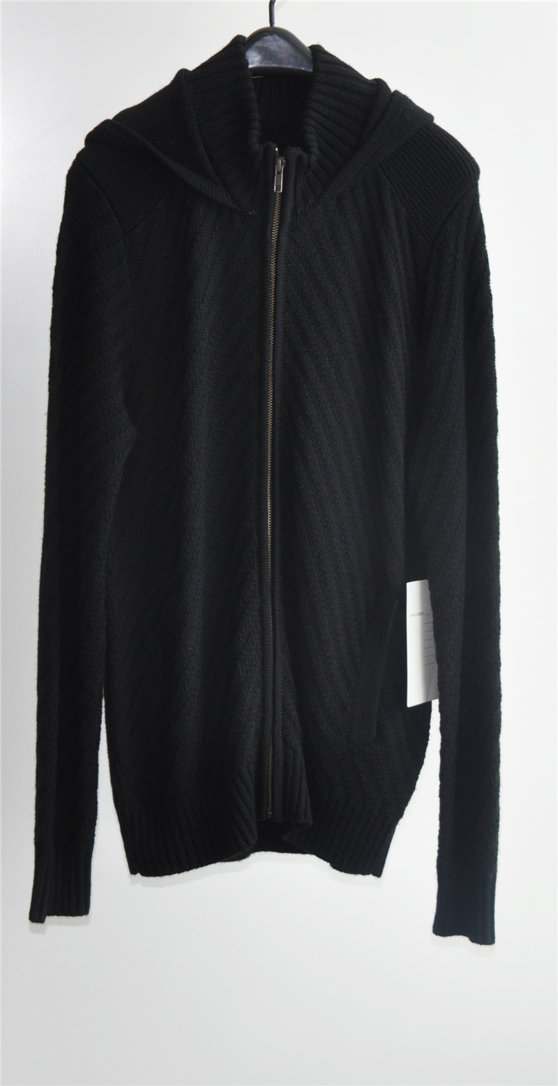 Men Winter Knitted Unisex Long Cardigan with Zipper