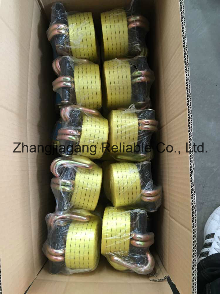 Cargo Control Ratchet Tie Down Lashing Belt Strap for Truck Accessories with CE SGS ISO EN12195-2