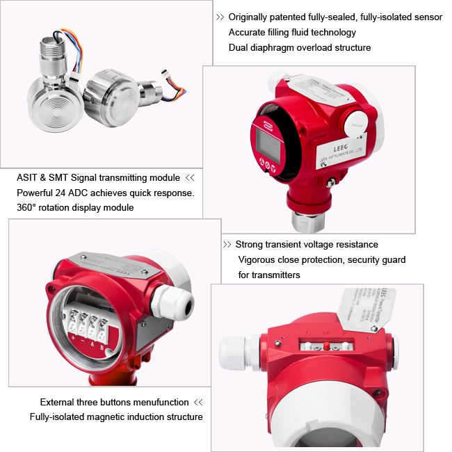 4-20mA Industry Differential Pressure Transmitter with LCD Display