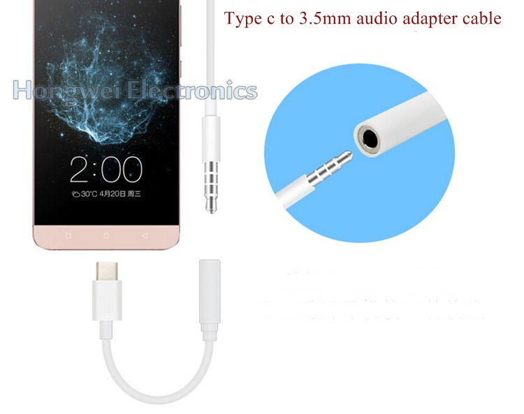 PVC Male USB to 3.5mm Audio Jack Adapter USB Cable for iPhone7/6/5