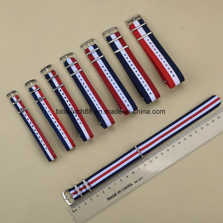 Custom Printed Nylon Nato Watch Strap 22mm Mesh Band Watch