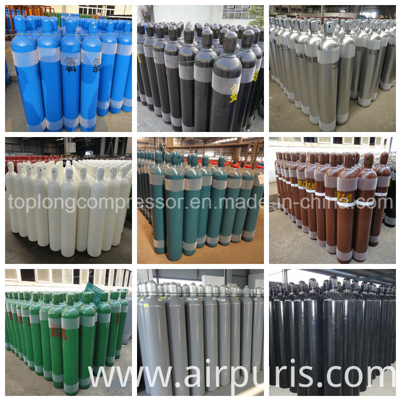 Oxygen Nitrogen Argon Seamless Steel Gas Cylinder